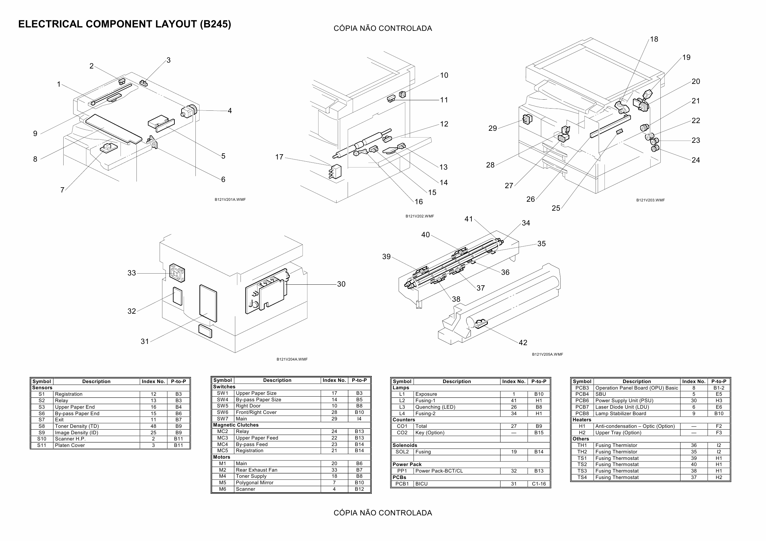 RICOH Aficio MP-1500 B245 Circuit Diagram